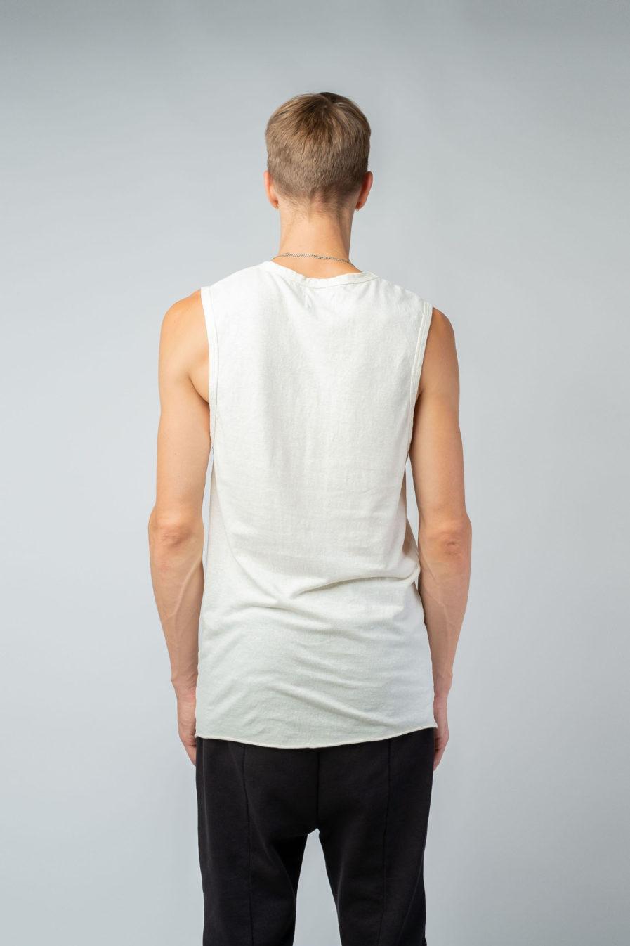 MAN unisex singlet tanktop hemp organic cotton DRIES Blank canvas back