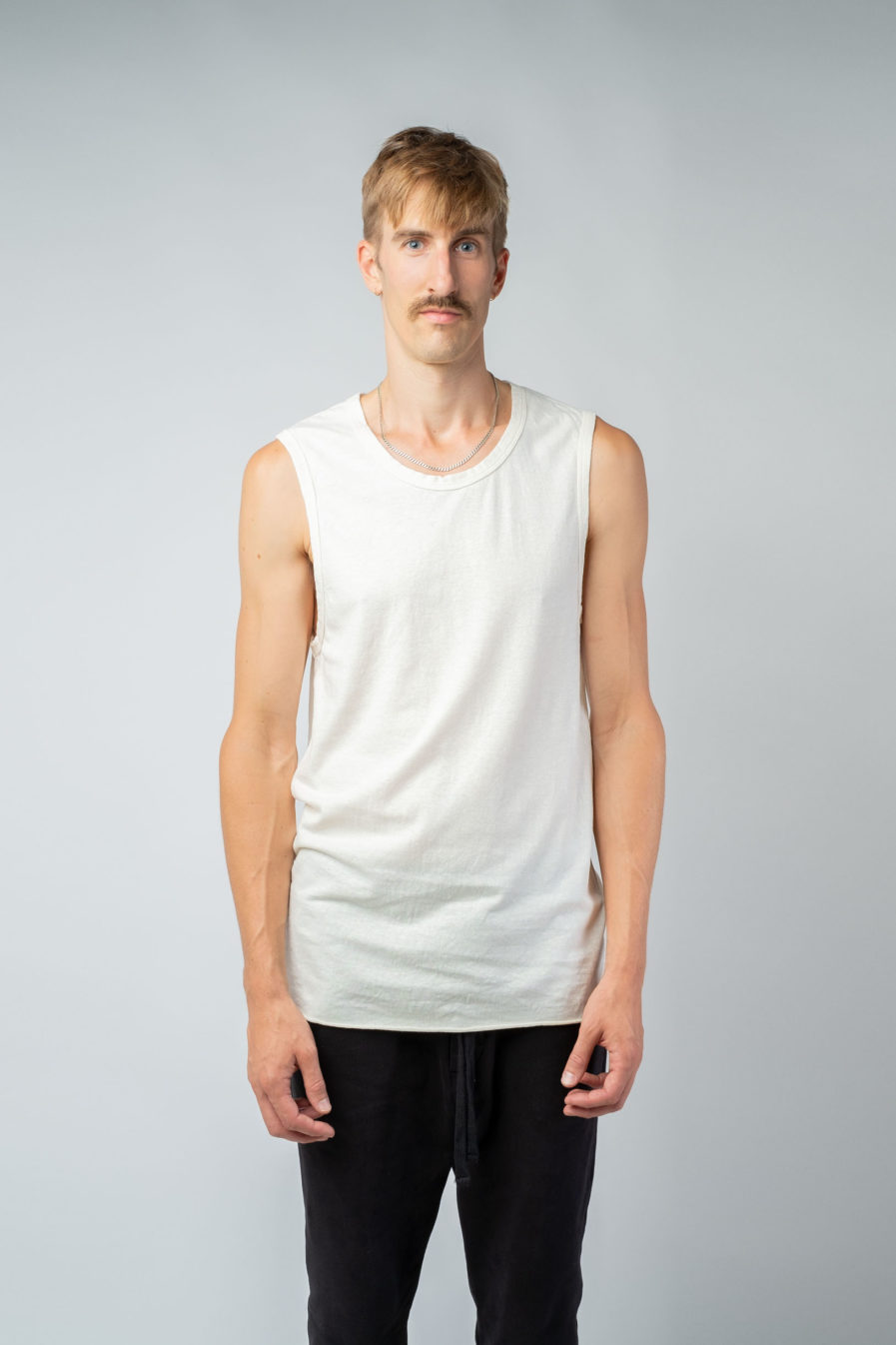 MAN unisex singlet tanktop hemp organic cotton DRIES Blank canvas front