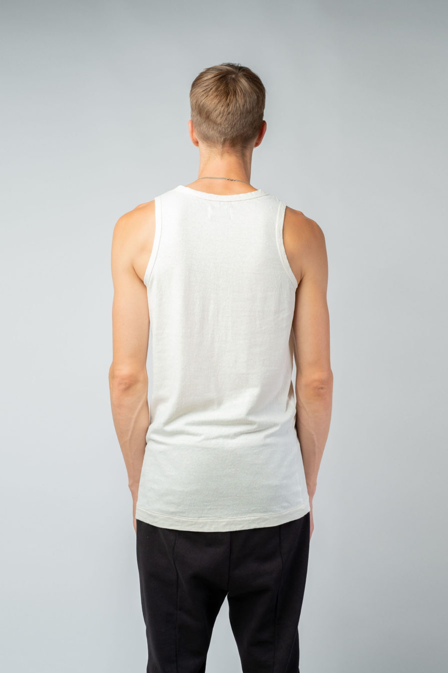 MAN unisex singlet tanktop hemp organic cotton FRANS Blank canvas back