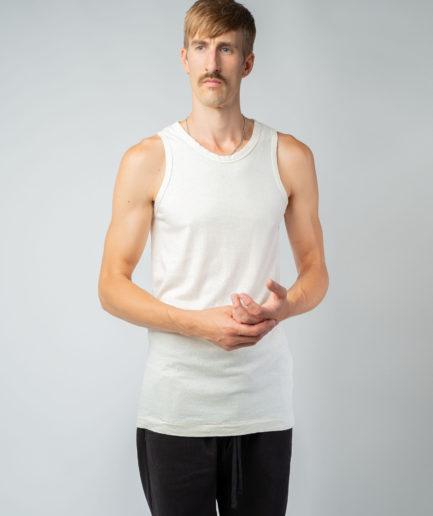 MAN unisex singlet tanktop hemp organic cotton FRANS Blank canvas front2