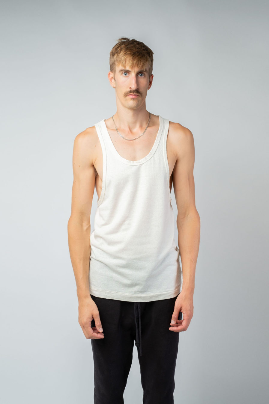 MAN unisex singlet tanktop hemp organic cotton LAU Blank canvas front