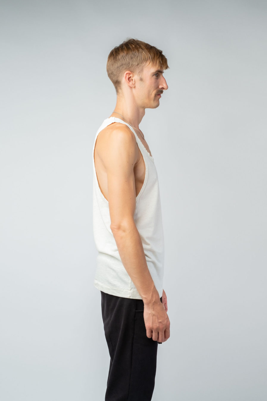 MAN unisex singlet tanktop hemp organic cotton LAU Blank canvas side