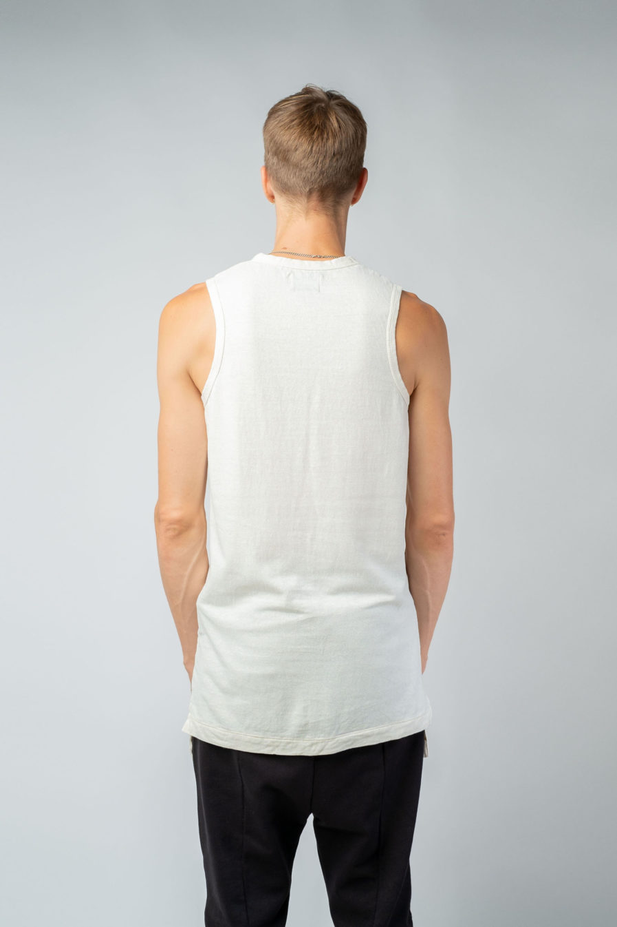 MAN unisex singlet tanktop hemp organic cotton MALIK Blank canvas back