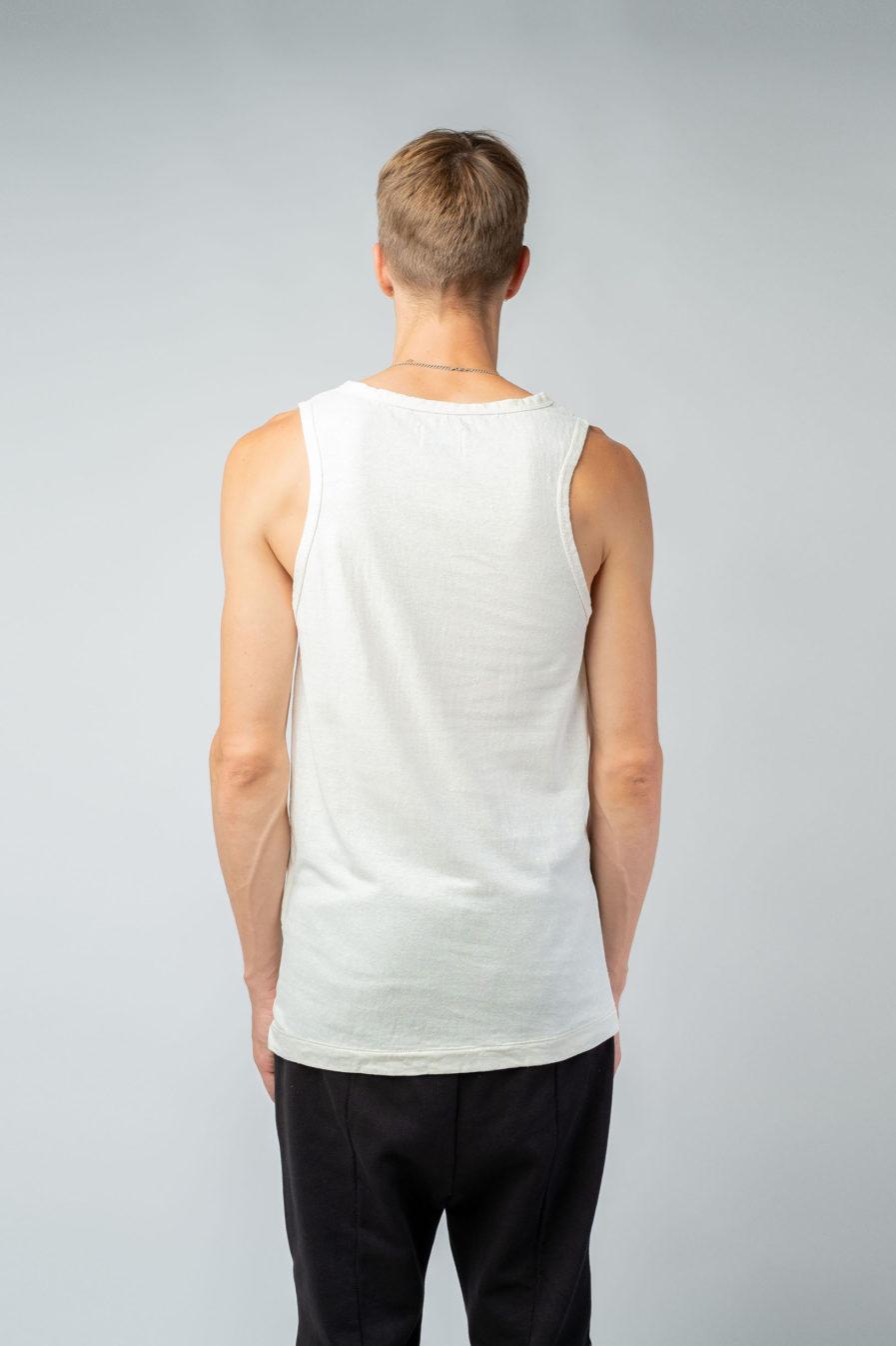 MAN unisex singlet tanktop hemp organic cotton SONNY Blank canvas back