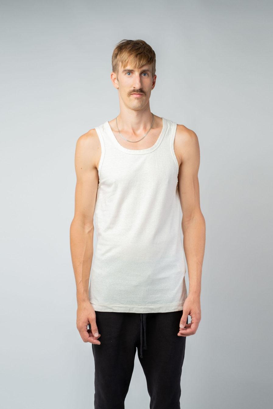 MAN unisex singlet tanktop hemp organic cotton SONNY Blank canvas front