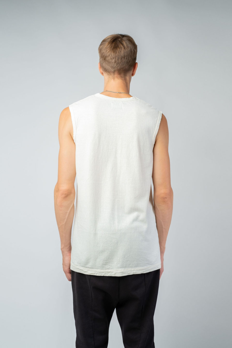 MAN unisex singlet tanktop hemp organic cotton VALENTIJN Blank canvas back