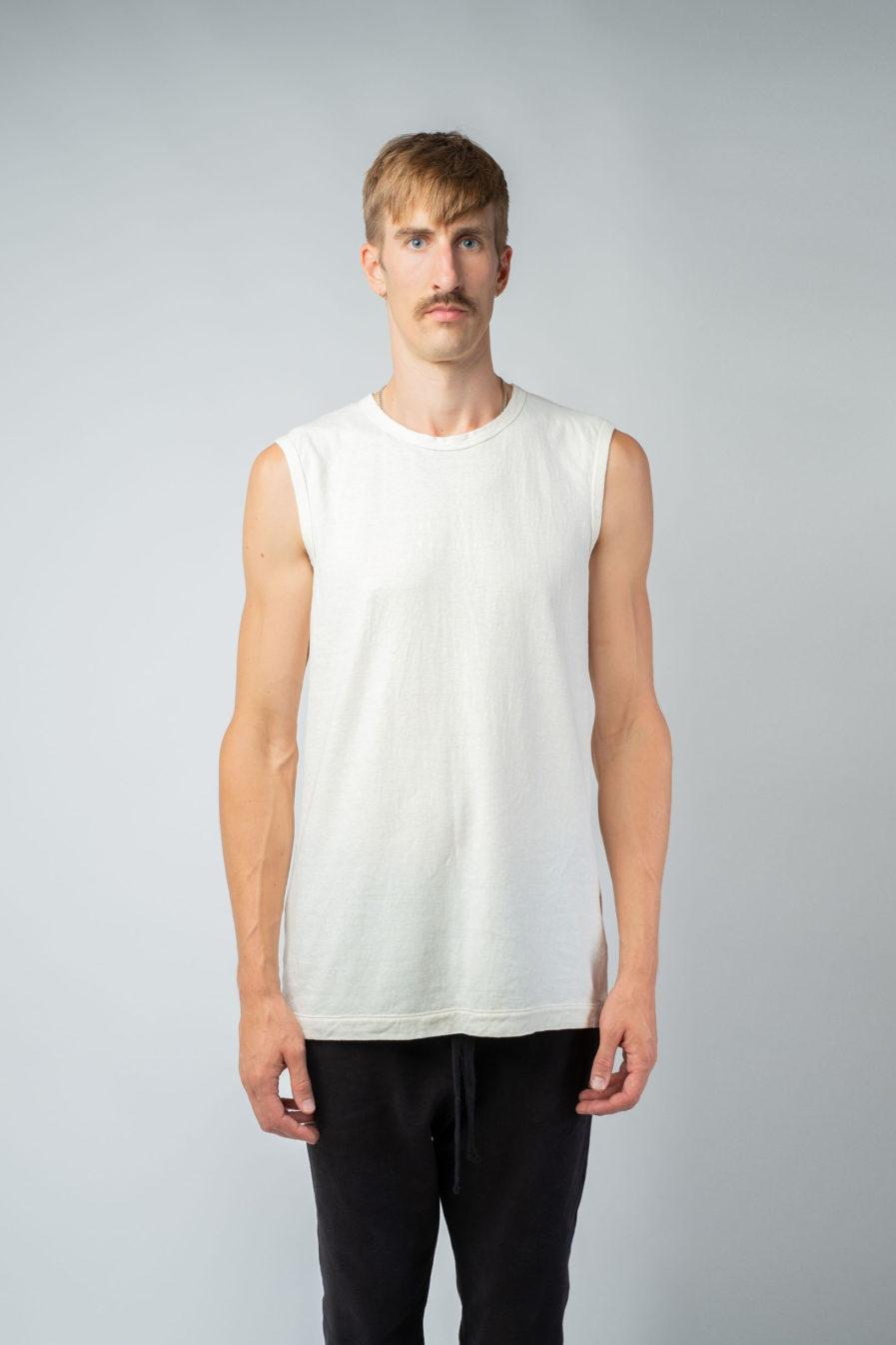 MAN unisex singlet tanktop hemp organic cotton VALENTIJN Blank canvas front