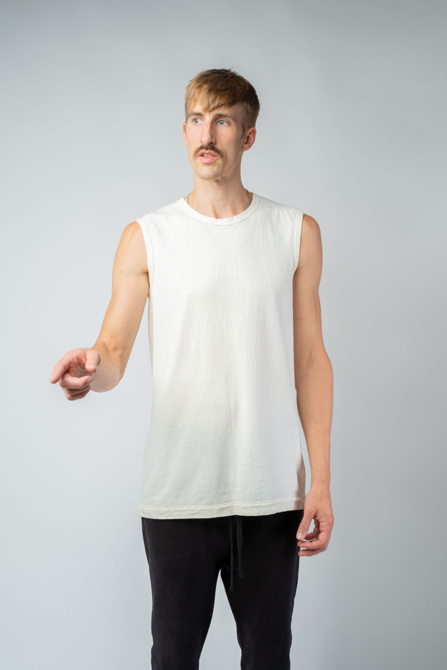 MAN unisex singlet tanktop hemp organic cotton VALENTIJN Blank canvas front2