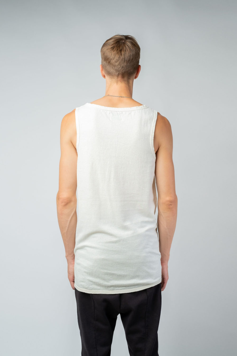 MAN unisex singlet tanktop hemp organic cotton WILLIE Blank canvas back