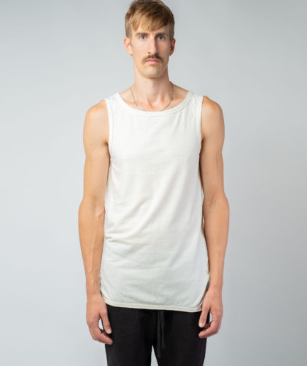 MAN unisex singlet tanktop hemp organic cotton WILLIE Blank canvas front