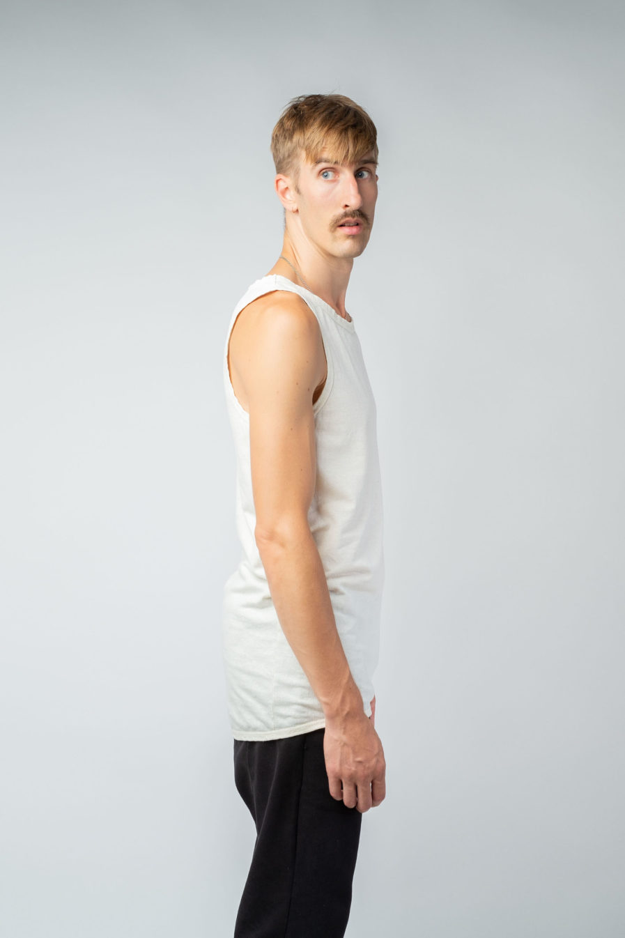 MAN unisex singlet tanktop hemp organic cotton WILLIE Blank canvas side