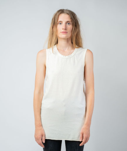WOMAN unisex singlet tanktop hemp organic cotton DRIES Blank canvas front