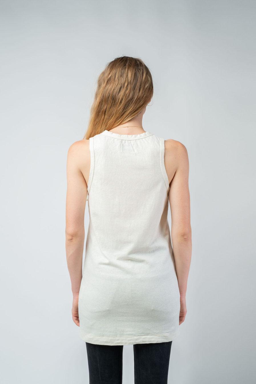 WOMAN unisex singlet tanktop hemp organic cotton FRANS Blank canvas back