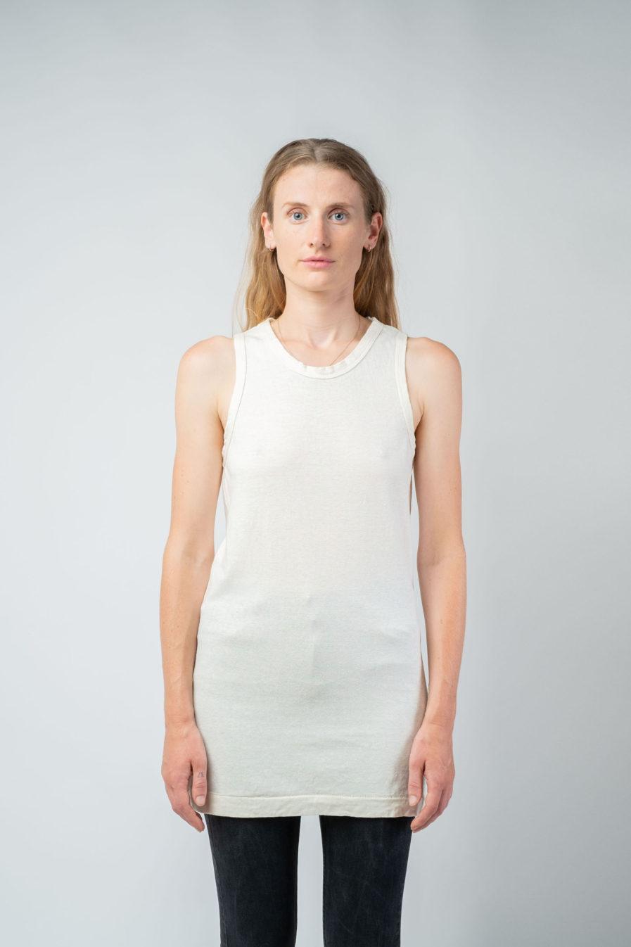 WOMAN unisex singlet tanktop hemp organic cotton FRANS Blank canvas front