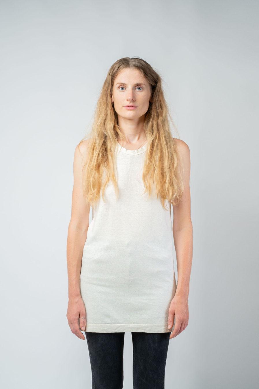WOMAN unisex singlet tanktop hemp organic cotton FRANS Blank canvas front2