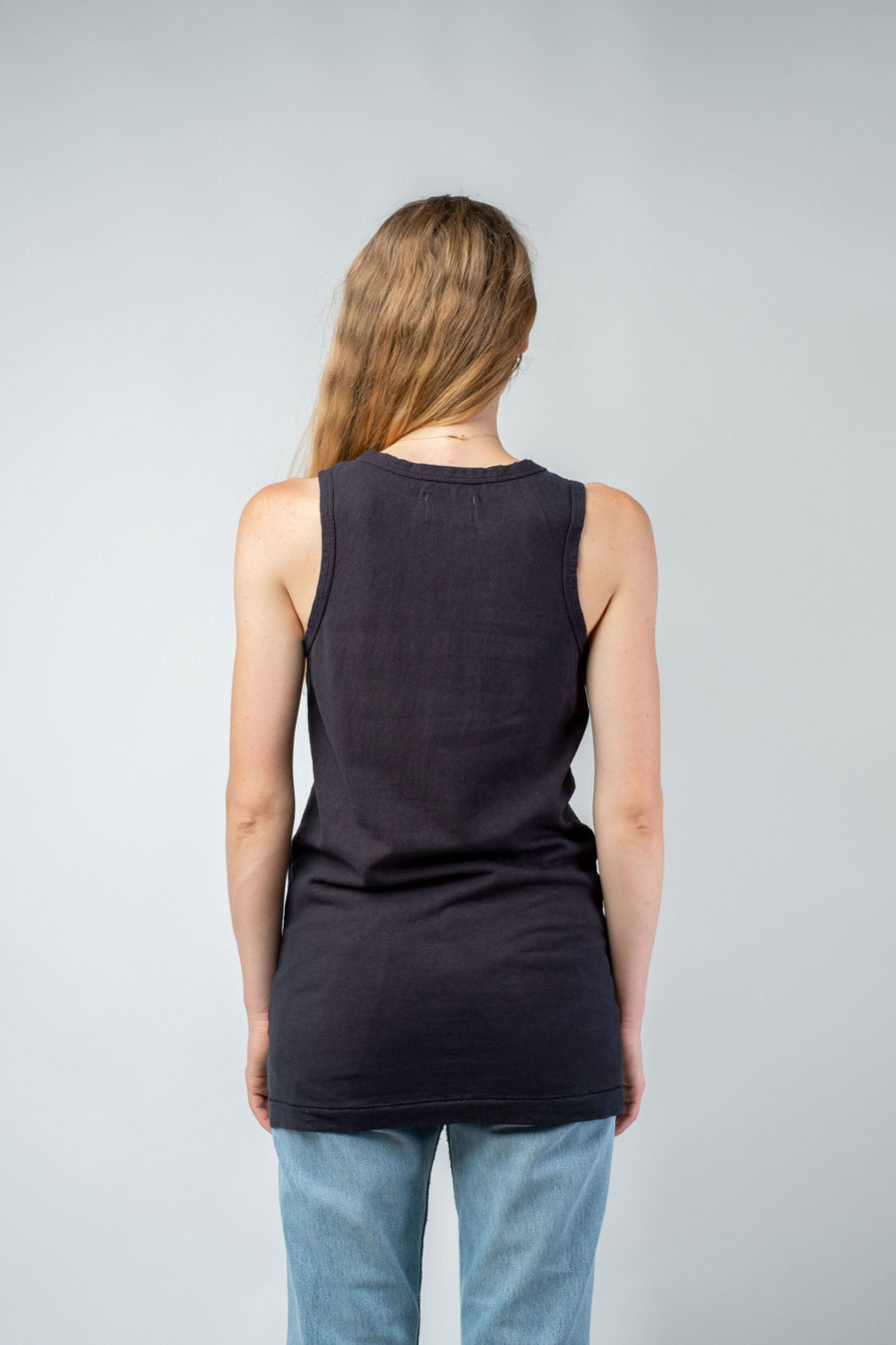 WOMAN unisex singlet tanktop hemp organic cotton FRANS Carbon black back