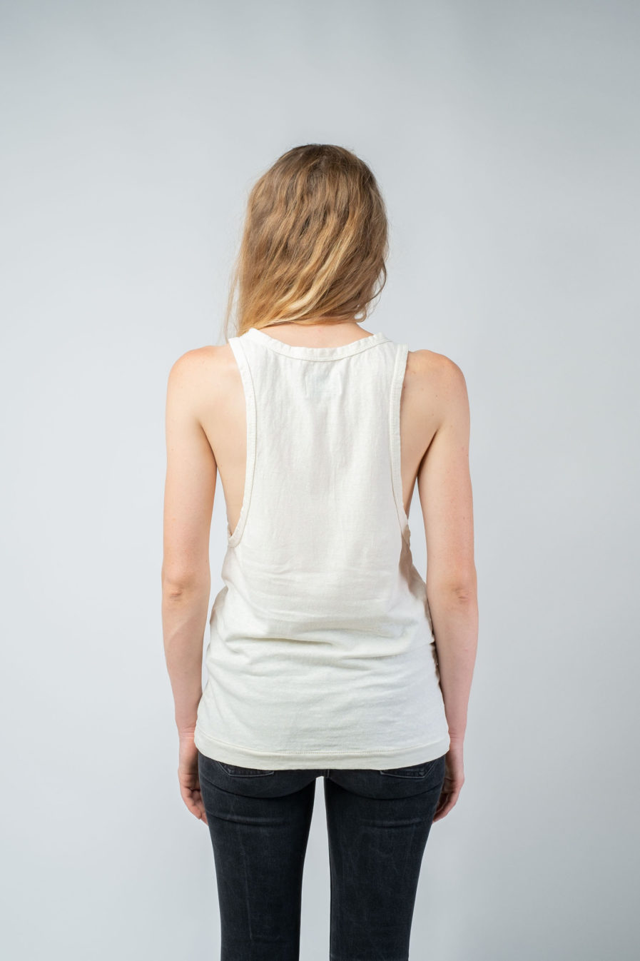 WOMAN unisex singlet tanktop hemp organic cotton LAU Blank canvas back