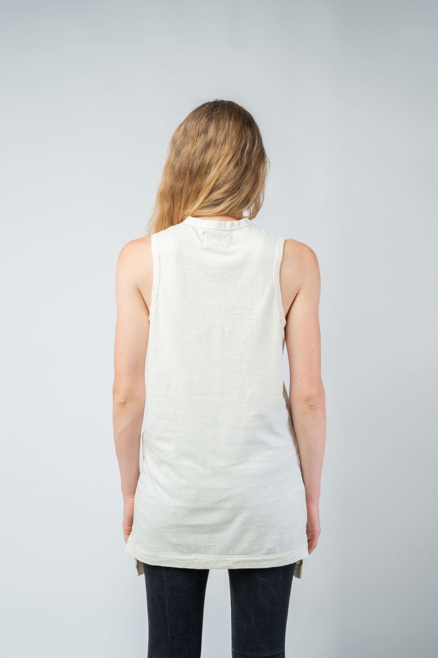 WOMAN unisex singlet tanktop hemp organic cotton MALIK Blank canvas back