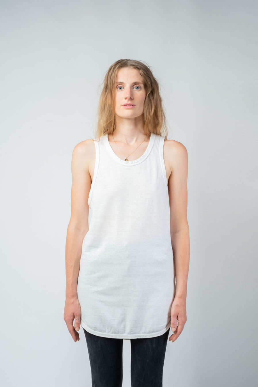 WOMAN unisex singlet tanktop hemp organic cotton OTIS new Blank canvas front