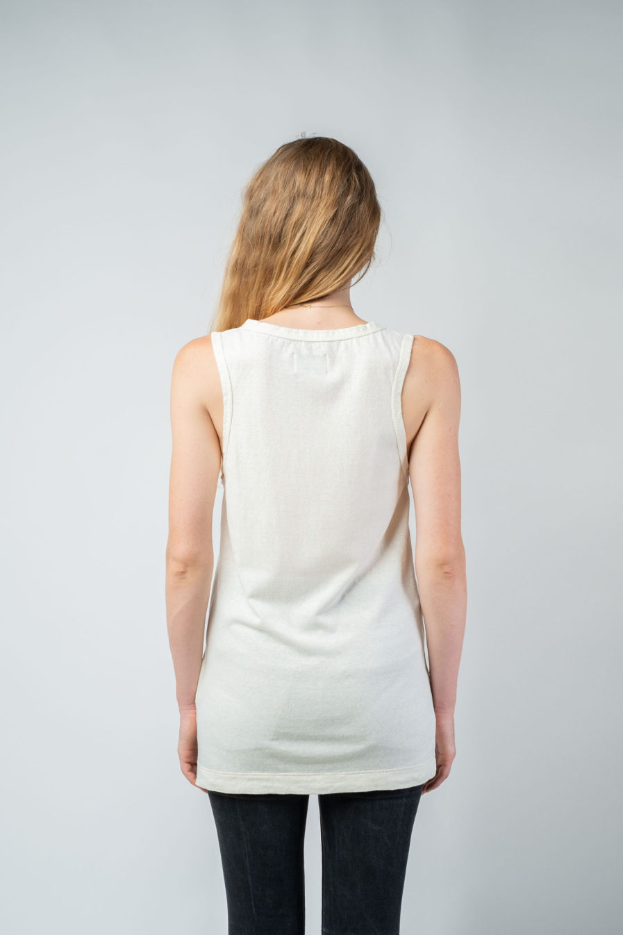 WOMAN unisex singlet tanktop hemp organic cotton SONNY Blank canvas back