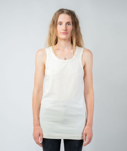 WOMAN unisex singlet tanktop hemp organic cotton SONNY Blank canvas front