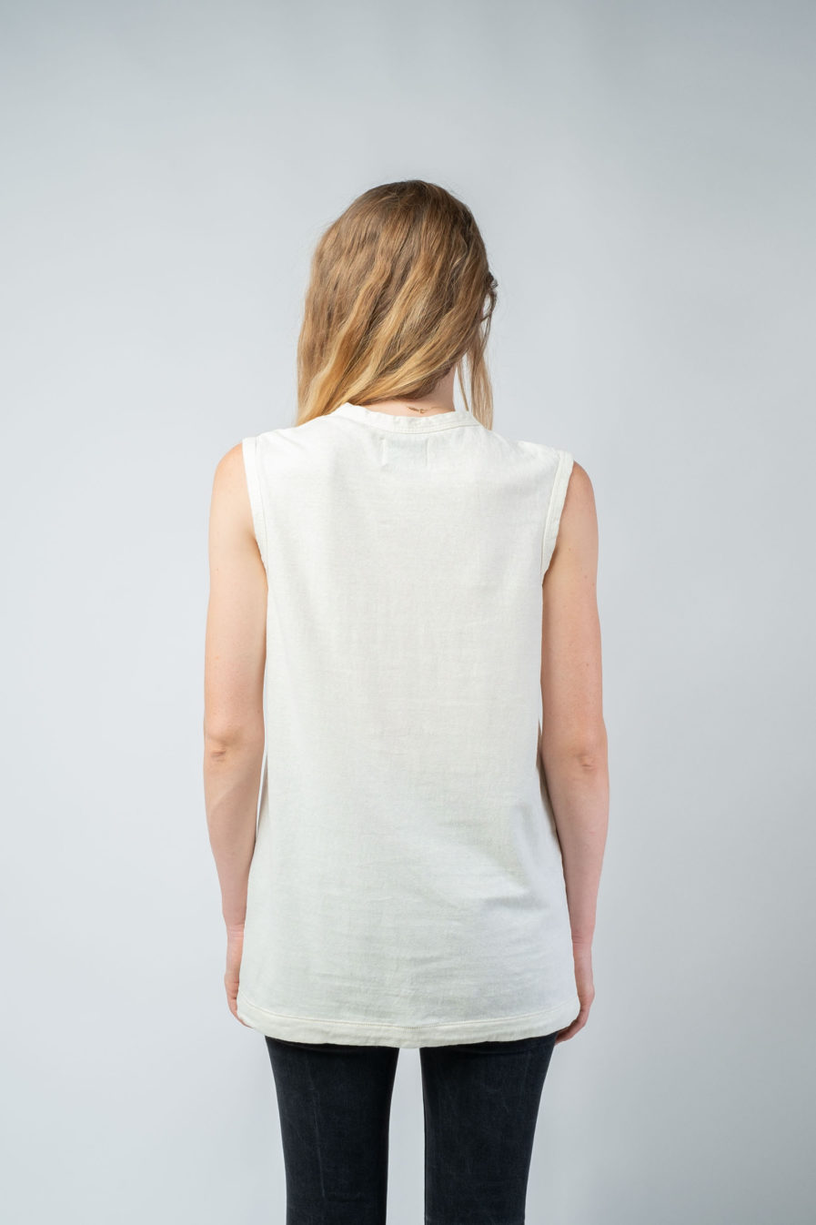 WOMAN unisex singlet tanktop hemp organic cotton VALENTIJN Blank canvas S back