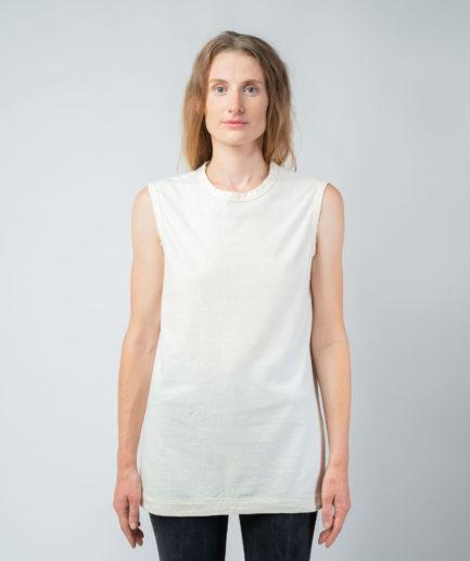 WOMAN unisex singlet tanktop hemp organic cotton VALENTIJN Blank canvas S front