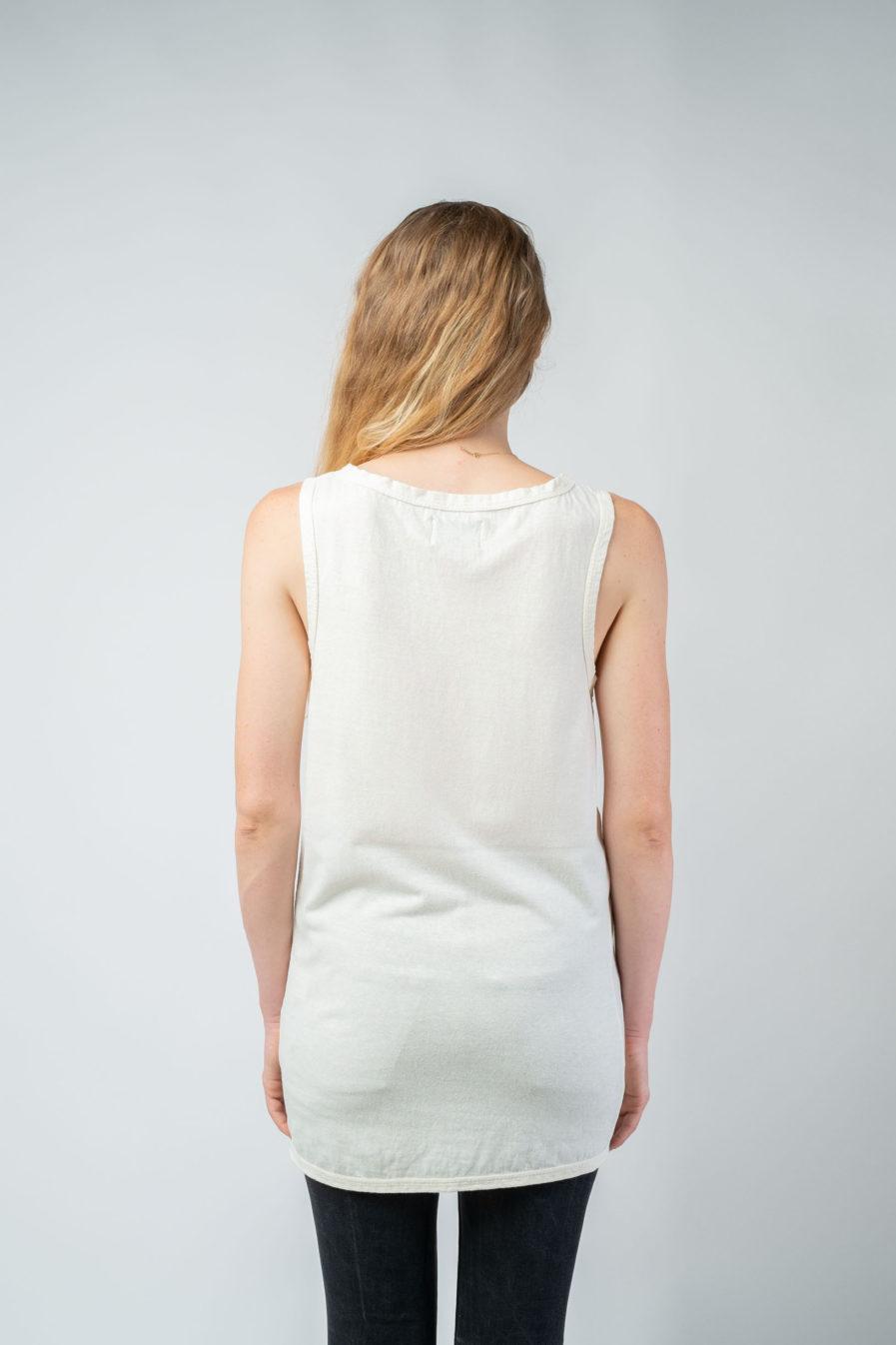 WOMAN unisex singlet tanktop hemp organic cotton WILLIE Blank canvas back