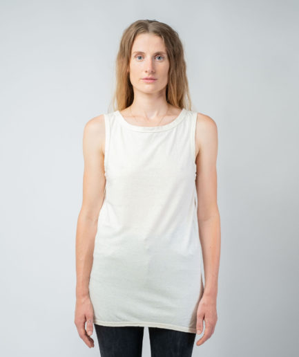 WOMAN unisex singlet tanktop hemp organic cotton WILLIE Blank canvas front