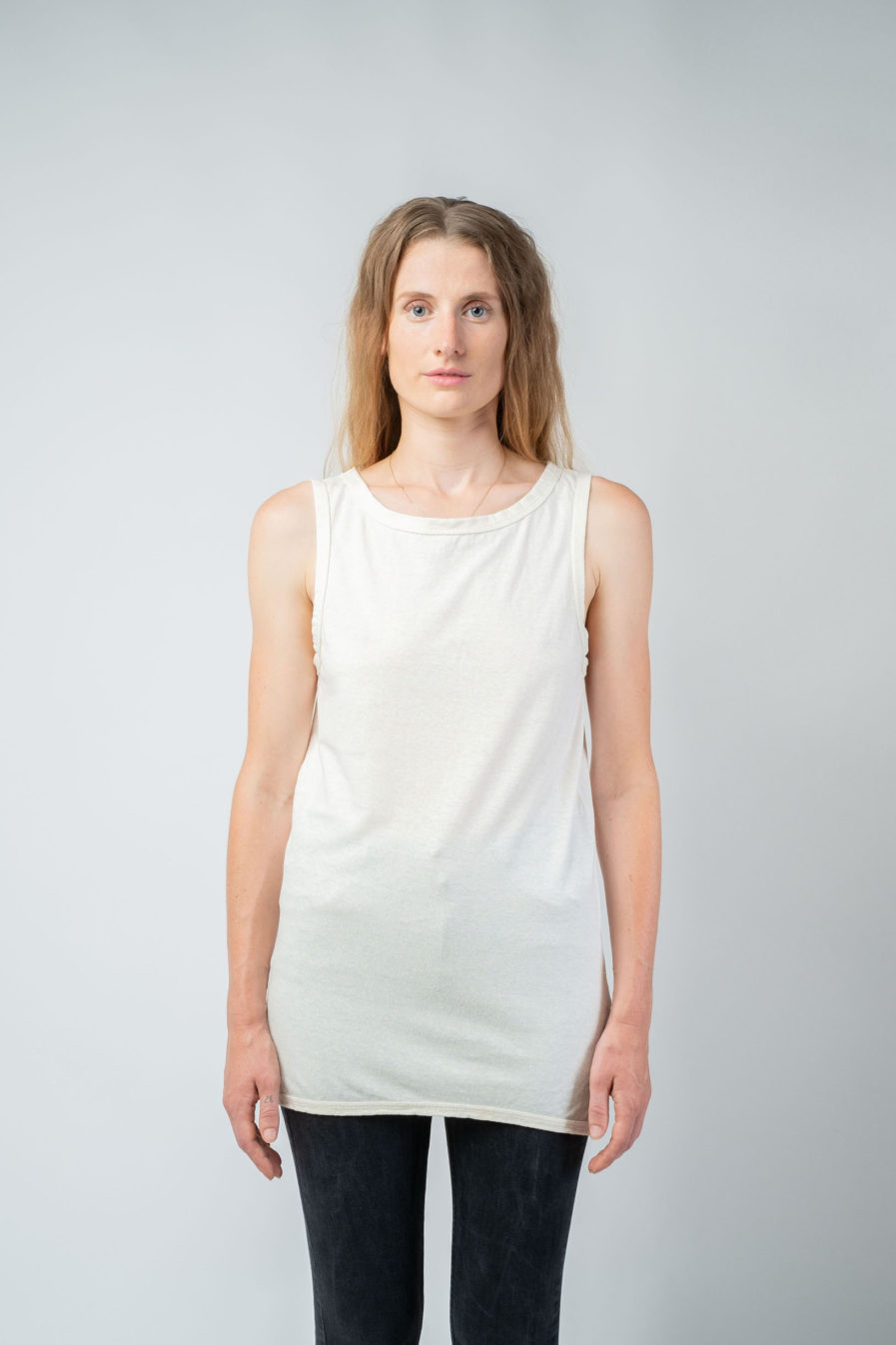 WOMAN unisex singlet tanktop hemp organic cotton WILLIE Blank canvas front