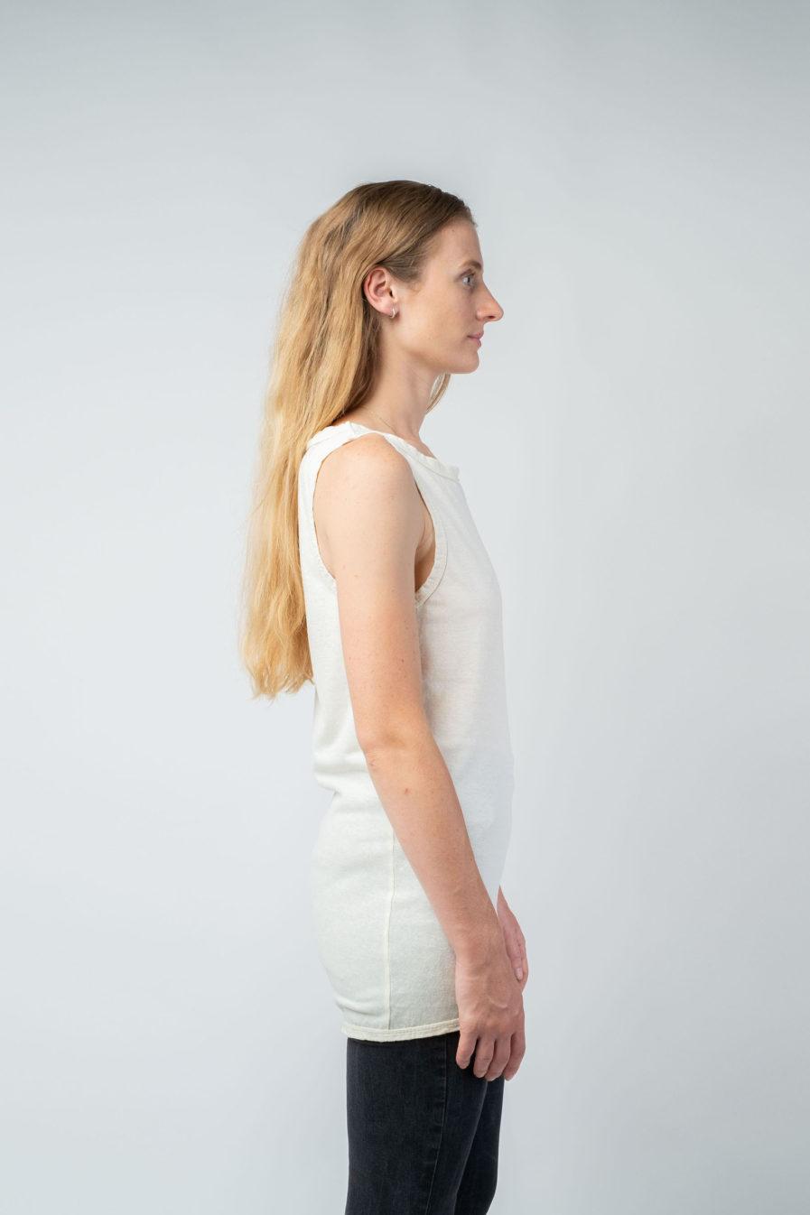 WOMAN unisex singlet tanktop hemp organic cotton WILLIE Blank canvas side