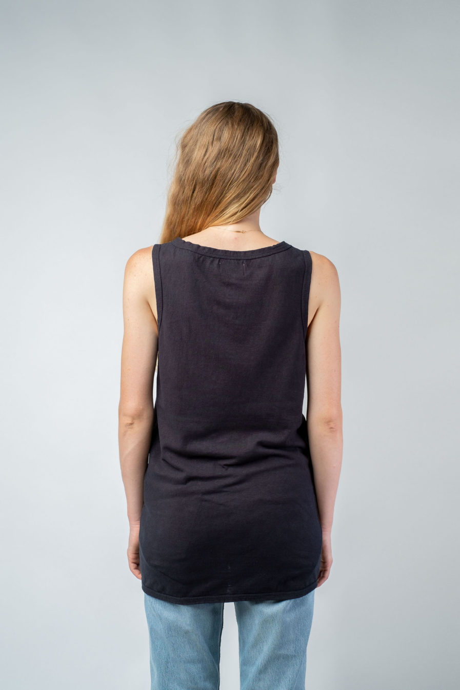 WOMAN unisex singlet tanktop hemp organic cotton WILLIE Carbon black back