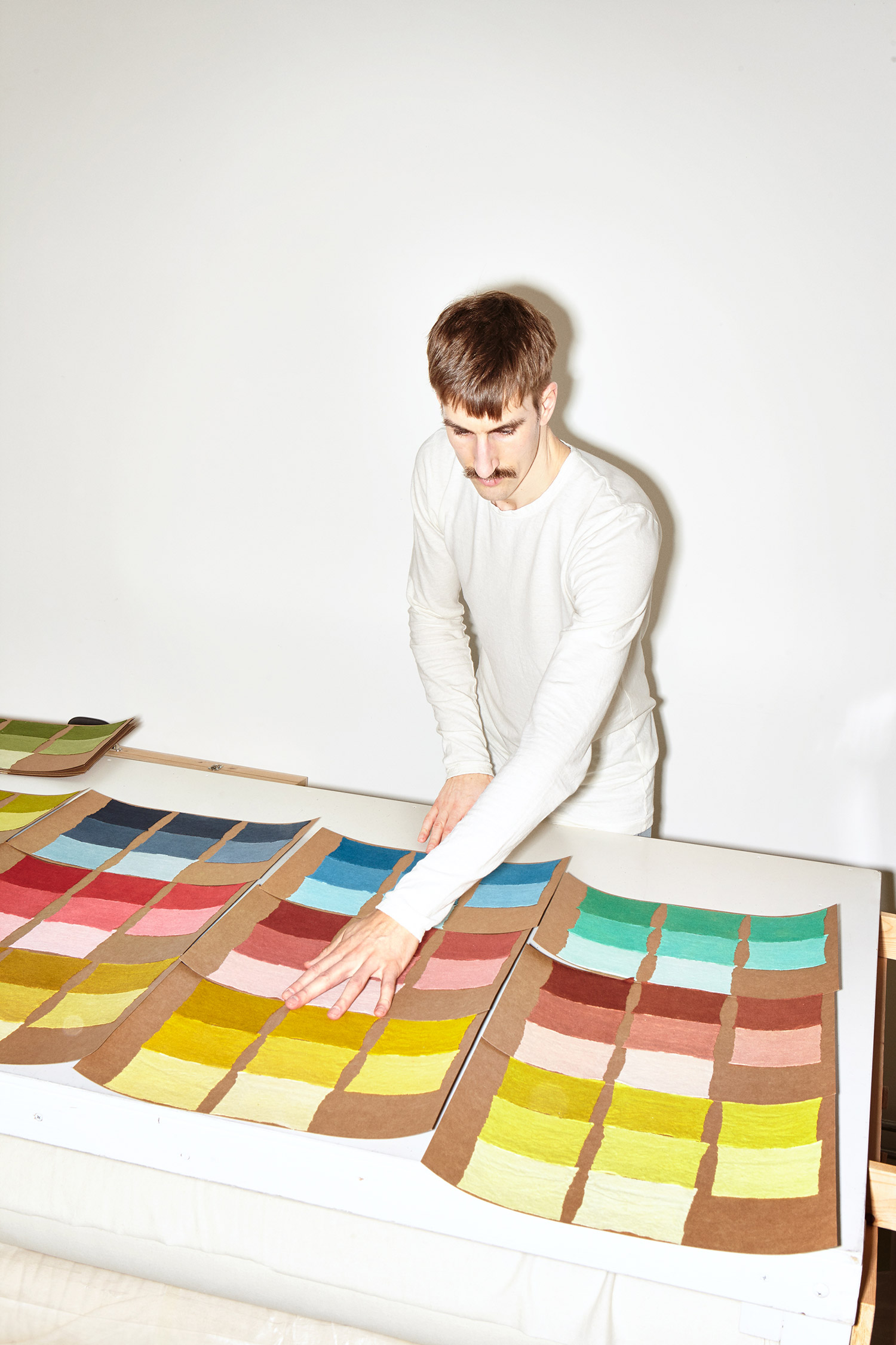 Custom colors, garment dyed by hand. Photo by Lizzy Ann