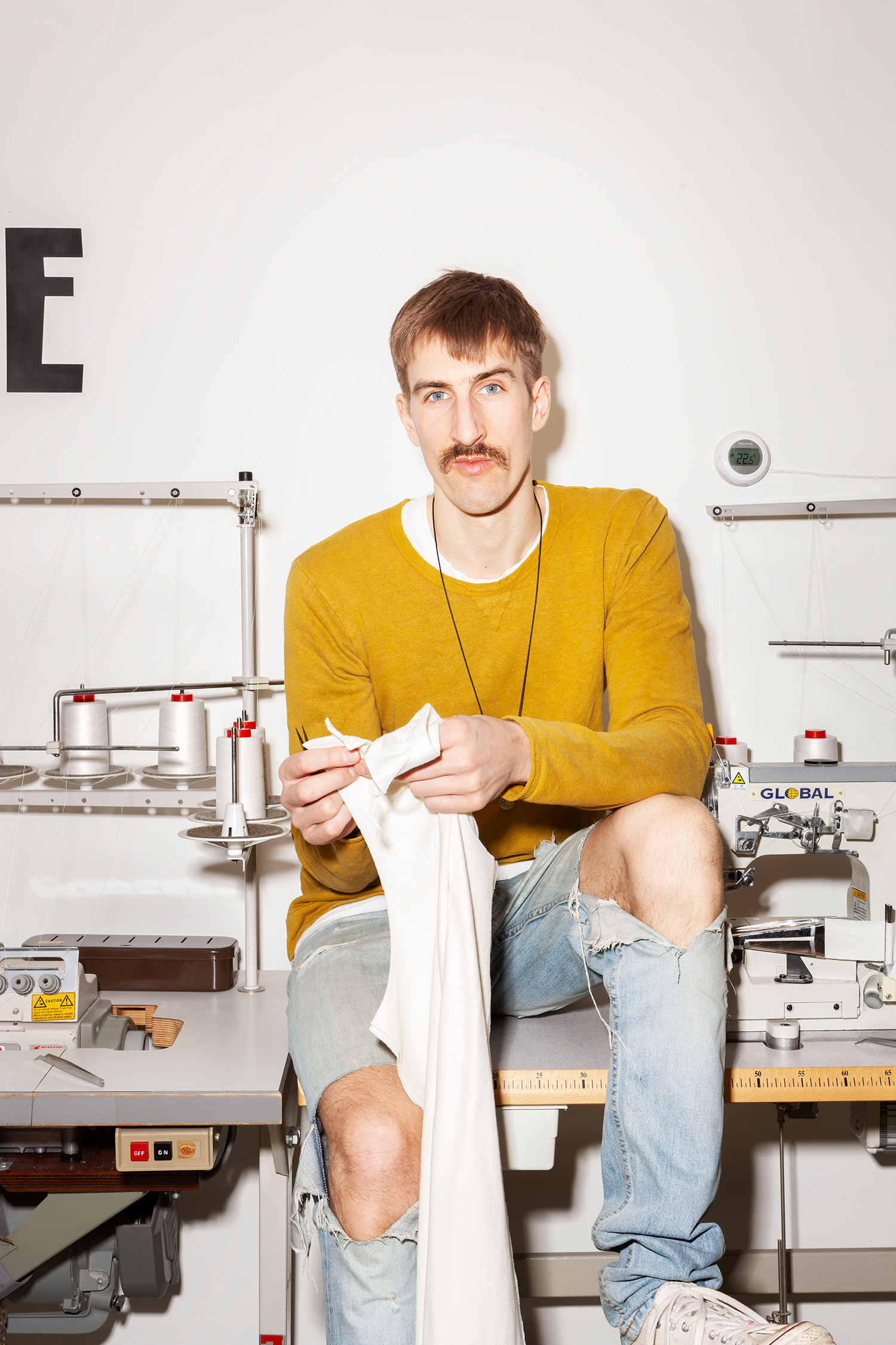 Made in Amsterdam. Local design cutting & sewing. Photo by Lizzy Ann